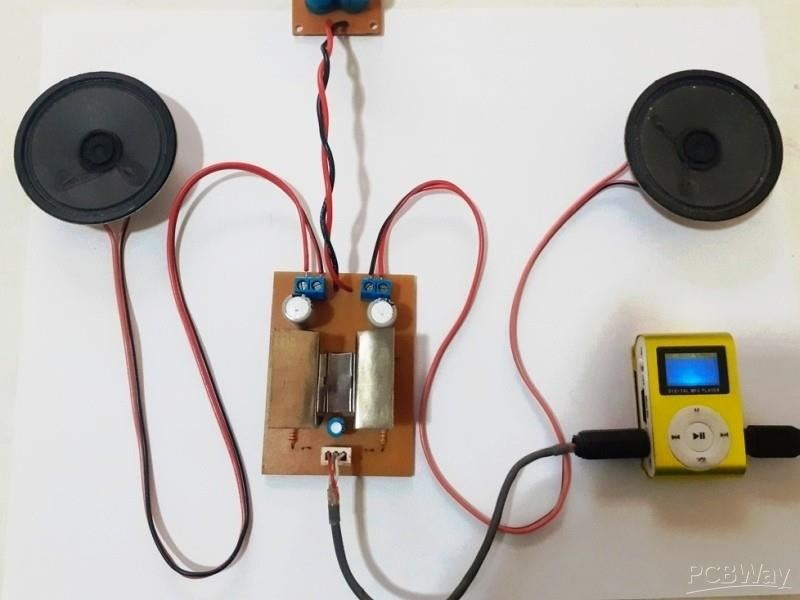 Stereo Audio Amplifier with KA2206B Integrated Circuit