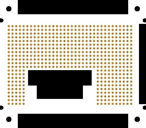 Cora Z7 Theremin - FPGA based theremin: LCD mount PCB
