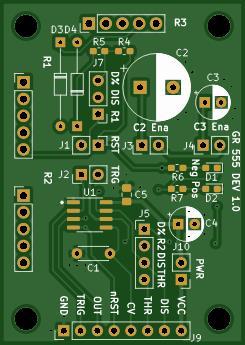 555 Timer Dev Board v1.0
