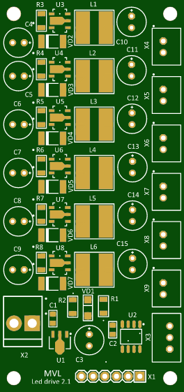 6 channel led driver - Share Project - PCBWay