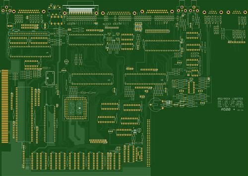 amiga 500 motherboard! try at your own risk