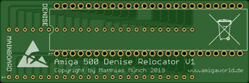 Amiga 500 Denise Relocator V1