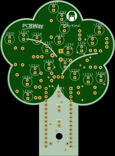 pcb tree-shaped lamp