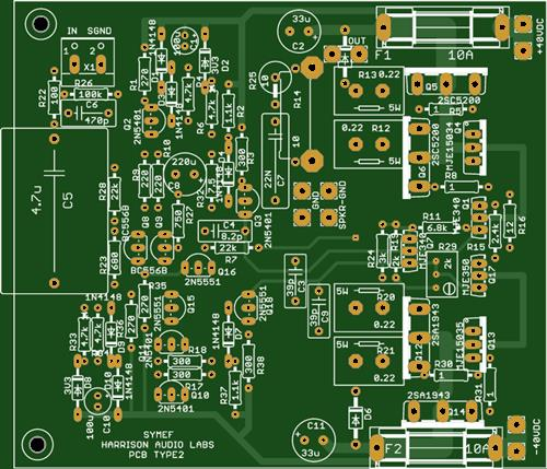 SYMEF Amplifier 220 Watts into 4 Ohms THD 0.002% 101.6mm * 85.7mm