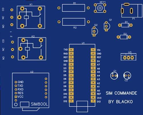 remote controle using sim module