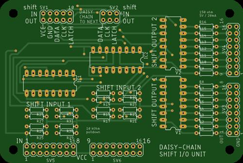 Daisy-Chain Shift IO Board