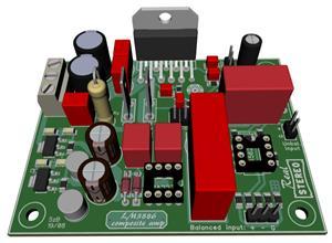 LM3886 composite power amplifier