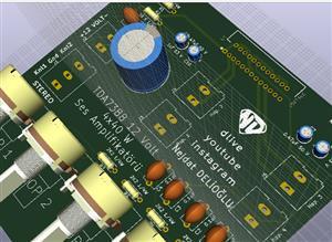 TDA7388 4x4 Amfi devresi | TDA7388 Amplifkator.