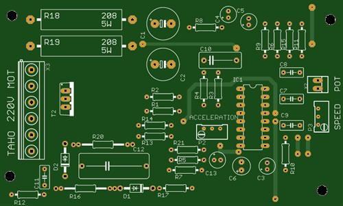 Universal motor speed controller with acceleration control