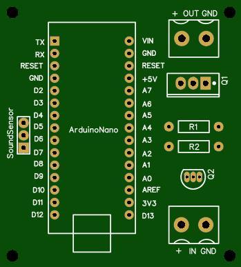 Sound sensor with strip light