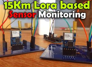 Reyax rylr890/rylr896 LoRa based Sensor monitoring using Arduino