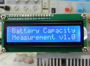 Battery capacity measurement using Arduino