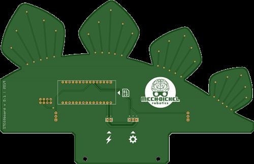 STEGObot (a stegosaurus-like remote controlled robot)