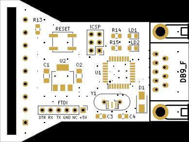 OpenPSX2AmigaPadAdapter V2