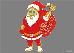 PCB Santa Claus