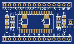 SOP SSOP MSOP VSOP to DIP/DIL converter board