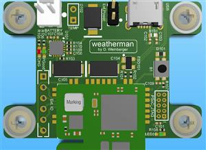 Weatherman with RF Radio and BME Environmental Sensor
