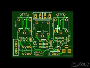 3 channel relay controller card