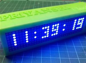 Arduino Matrix Clock MAX7219 New V1.5