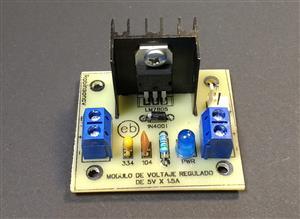Módulo de voltaje regulado de 5V x 1.5A con el LM7805 - KF301