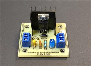 Módulo de voltaje regulado de 18V x 1.5A con el LM7818 - KF301