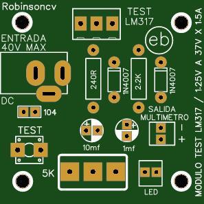 Módulo TEST para el regulador LM317 - JACK