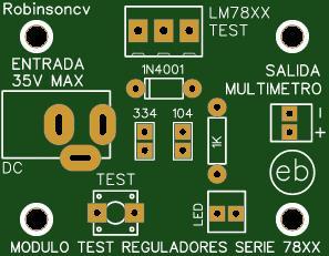 Módulo TEST para reguladores de la serie 78XX