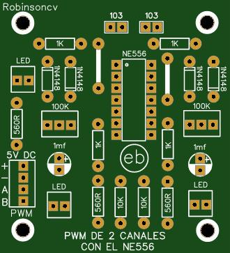 Módulo PWM de dos canales con el NE556