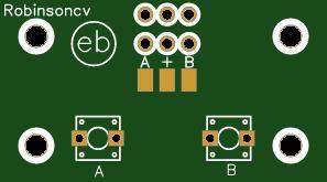 PCB con 2 pulsadores NO