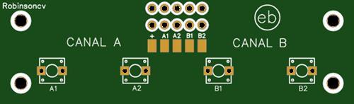 PCB con 4 pulsadores NO