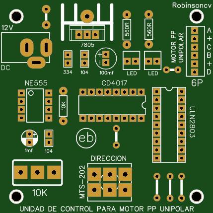 Unidad de control para motor paso a paso unipolar de 6 cables - JACK