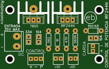 Control de potencia con el IRFZ44N  - FK301