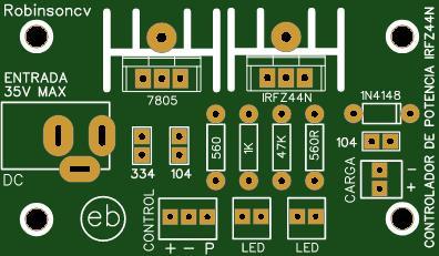 Control de potencia con el IRFZ44N - JACK