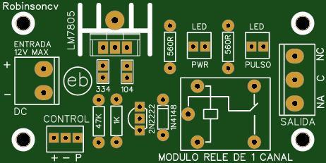Módulo rele de 1 canal - KF301