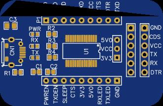 Micro USB FTDI Board With Dual Header