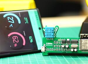 IoT project Temperature Humidity Blynk Portable