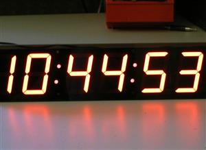 Accurate digital wall clock with GPS and remote control