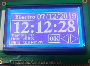 Simple Internet Clock Using ESP8266 DHT11