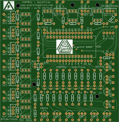 Potencia AC Arduino con Triac y Optotriac