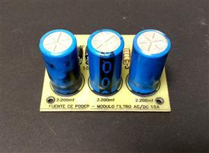 Fuente de poder de voltaje fijo de 1.5A - Módulo filtro AC/DC