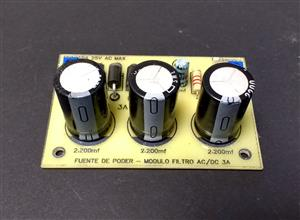 Fuente de poder de voltaje fijo de 3A - Módulo filtro AC/DC