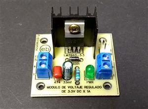 Módulo de voltaje regulado de 3.3V x 1A con el LM3940-3.3 - KF301