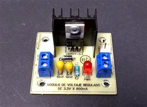 Módulo de voltaje regulado de 3.3V x 800mA con el LM1117T-3.3 - KF301