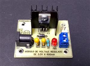 Módulo de voltaje regulado de 3.3V x 800mA con el LM1117T-3.3 - JACK