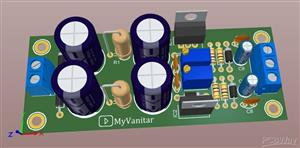 Low Noise Adjustable Linear AC-DC Power Supply