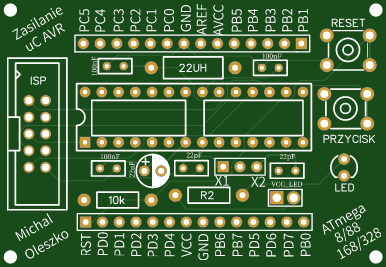 avr development board V0.1