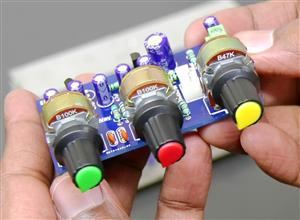 Bass, Treble & Volume Control Board Preamp with Transistors for Audio Amplifier ELECTROINDIA