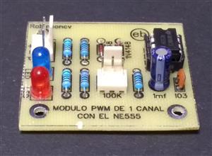 Módulo PWM de un canal con el NE555