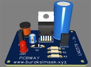 Basic LM2576 5v DC Converter