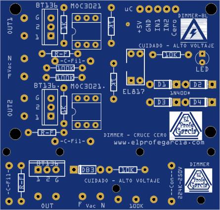 Dimmer Arduino Blu